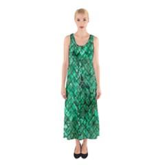 BRK2 BK-GR MARBLE (R) Full Print Maxi Dress