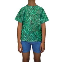 BRK2 BK-GR MARBLE (R) Kid s Short Sleeve Swimwear