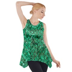 BRK2 BK-GR MARBLE (R) Side Drop Tank Tunic