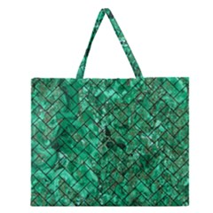 BRK2 BK-GR MARBLE (R) Zipper Large Tote Bag