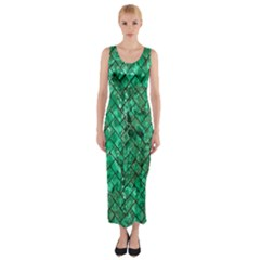 BRK2 BK-GR MARBLE (R) Fitted Maxi Dress