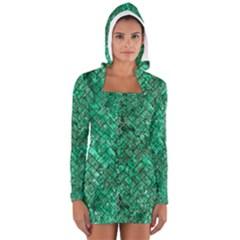BRK2 BK-GR MARBLE (R) Women s Long Sleeve Hooded T-shirt
