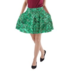 BRK2 BK-GR MARBLE (R) A-Line Pocket Skirt