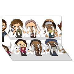 The Walking Dead   Main Characters Chibi   Amc Walking Dead   Manga Dead Congrats Graduate 3d Greeting Card (8x4)