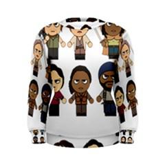 The Walking Dead   Main Characters Chibi   Amc Walking Dead   Manga Dead Women s Sweatshirt