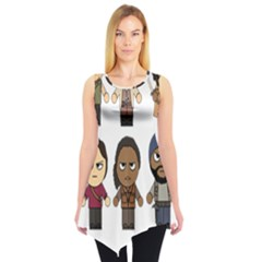 The Walking Dead   Main Characters Chibi   Amc Walking Dead   Manga Dead Sleeveless Tunic