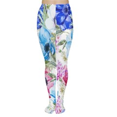 Watercolor spring flowers Women s Tights