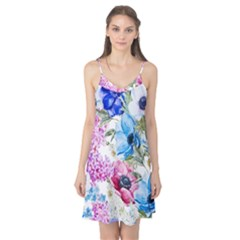 Watercolor Spring Flowers Camis Nightgown
