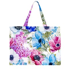 Watercolor spring flowers Large Tote Bag