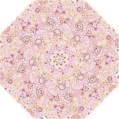 Ornamental Pattern With Hearts And Flowers  Golf Umbrellas