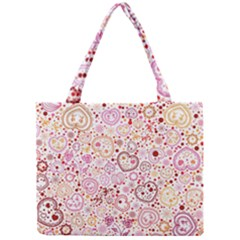 Ornamental pattern with hearts and flowers  Mini Tote Bag