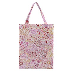 Ornamental Pattern With Hearts And Flowers  Classic Tote Bag
