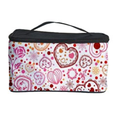 Ornamental Pattern With Hearts And Flowers  Cosmetic Storage Cases