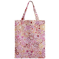 Ornamental pattern with hearts and flowers  Zipper Classic Tote Bag