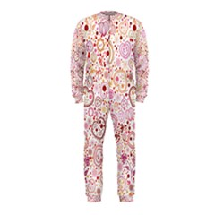 Ornamental pattern with hearts and flowers  OnePiece Jumpsuit (Kids)