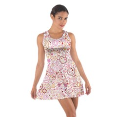 Ornamental pattern with hearts and flowers  Racerback Dresses