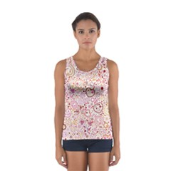Ornamental pattern with hearts and flowers  Tops