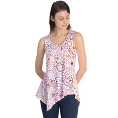 Ornamental Pattern With Hearts And Flowers  Sleeveless Tunic