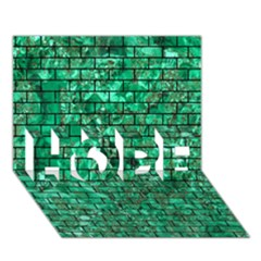 Brick1 Black Marble & Green Marble (r) Hope 3d Greeting Card (7x5)