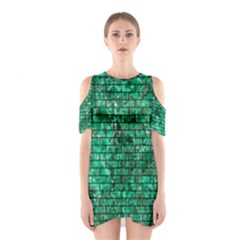 Brick1 Black Marble & Green Marble (r) Shoulder Cutout One Piece