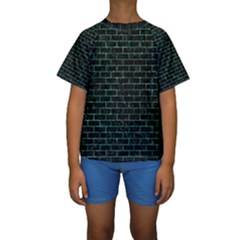 BRK1 BK-GR MARBLE Kid s Short Sleeve Swimwear