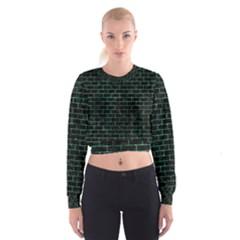 BRK1 BK-GR MARBLE Women s Cropped Sweatshirt