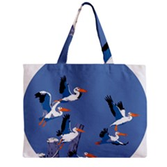 Abstract Pelicans Seascape Tropical Pop Art Mini Tote Bag