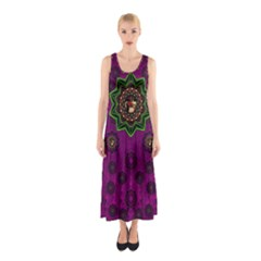 Among Stars A Dove A Fender In Peace And Leather Full Print Maxi Dress