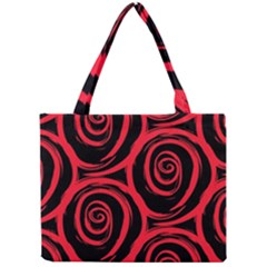 Abtract  Red Roses Pattern Mini Tote Bag