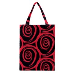 Abtract  Red Roses Pattern Classic Tote Bag