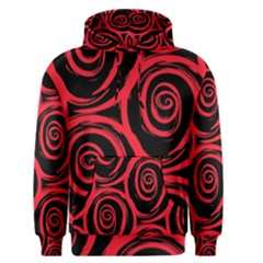 Abtract  Red Roses Pattern Men s Pullover Hoodie