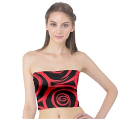 Abtract  Red Roses Pattern Tube Top