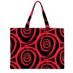 Abtract  Red Roses Pattern Large Tote Bag