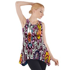 Ethnic Print Side Drop Tank Tunic