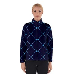 Seamless geometric blue Dots pattern  Winterwear