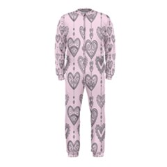 Sketches Ornamental Hearts Pattern Onepiece Jumpsuit (kids)