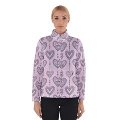 Sketches Ornamental Hearts Pattern Winterwear