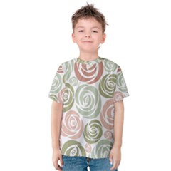 Retro Elegant Floral Pattern Kid s Cotton Tee