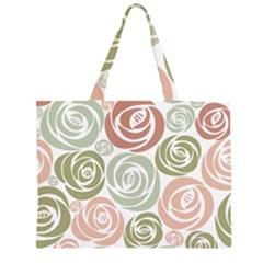 Retro Elegant Floral Pattern Large Tote Bag