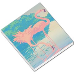 Two Pink Flamingos Pop Art Small Memo Pads