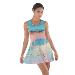 Two Pink Flamingos Pop Art Racerback Dresses