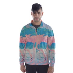 Two Pink Flamingos Pop Art Wind Breaker (men)