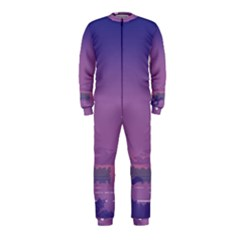 Abstract Tropical Birds Purple Sunset  Onepiece Jumpsuit (kids)