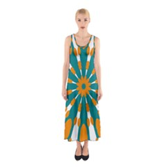 Tangerinerina Teliana Full Print Maxi Dress