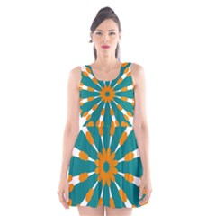 Tangerinerina Teliana Scoop Neck Skater Dress
