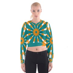 Tangerinerina Teliana Women s Cropped Sweatshirt