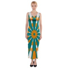 Tangerinerina Teliana Fitted Maxi Dress