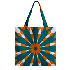 Tangerinerina Teliana Zipper Grocery Tote Bag