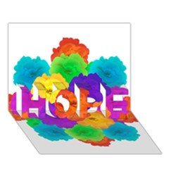 Flowes Collage Ornament Hope 3d Greeting Card (7x5)