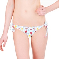 Seamless Colorful Flowers Pattern Bikini Bottom